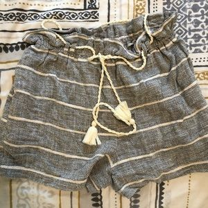 Free people paper bag beach shorts